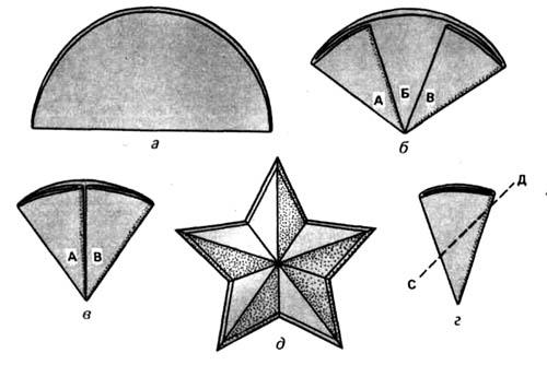 Пятиконечная звездочка из бумаги своими руками 39