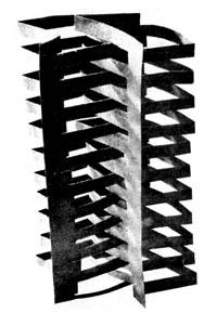Схема вырезания из бумаги объемной